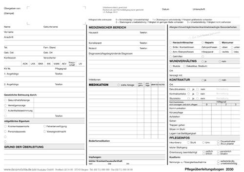 produktfoto 2030 - Pflegedokumentation Muster