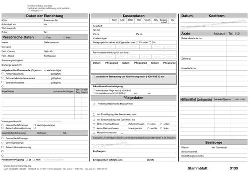 produktvorschau 3130 - Pflegeanamnese Muster