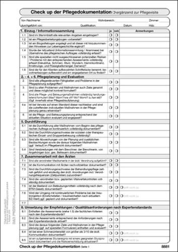 check up pflegedokumentation - Pflegedokumentation Muster